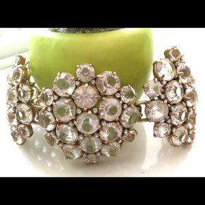 🔥Designer JCrew Gold Crystal studded Bracelet🔥